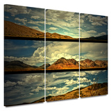 Saving Skis 3 piece gallery-wrapped canvas