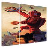 Robokong 3 piece gallery-wrapped canvas