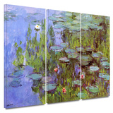 Sea Roses 3 piece gallery-wrapped canvas
