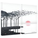 Aki 2 piece gallery-wrapped canvas