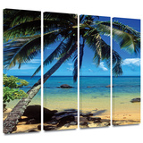 Beautiful Smini Beach 4 piece gallery-wrapped canvas