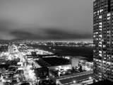 Manhattan Night Landscape with Fog