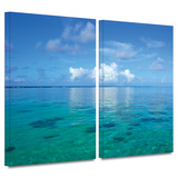 Lagoon and Reef 2 piece gallery-wrapped canvas