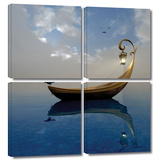 Narcissism 4 piece gallery-wrapped canvas