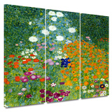 Farm Garden 3 piece gallery-wrapped canvas