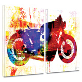 Moto III 2 piece gallery-wrapped canvas