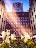 Instants of NY Series - Rockefeller Center and 5th Ave Views with Christmas Decoration