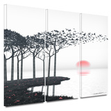 Aki 3 piece gallery-wrapped canvas