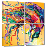 Windswept 4 piece gallery-wrapped canvas
