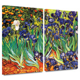 Irises in the Garden 2 piece gallery-wrapped canvas