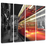London III 4 piece gallery-wrapped canvas