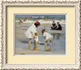 Children Playing at the Seashore