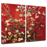 Interpretation in Red Almond Blossom 2 piece gallery-wrapped canvas