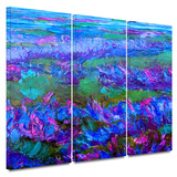 Charlits Floral 3 piece gallery-wrapped canvas