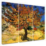 Mulberry Tree 3 piece gallery-wrapped canvas