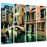 Venice Canal 4 piece gallery-wrapped canvas