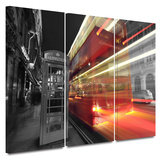 London III 3 piece gallery-wrapped canvas