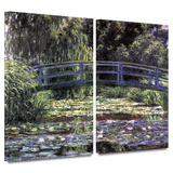 Bridge at Sea Rose Pond 2 piece gallery-wrapped canvas