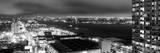 Manhattan Night Panoramic Landscape with Fog