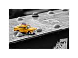 Yellow Taxi on Brooklyn Bridge