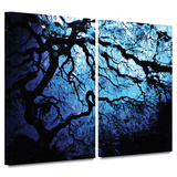 Japanese Ice Tree 2 piece gallery-wrapped canvas