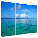Lagoon and Reef 3 piece gallery-wrapped canvas