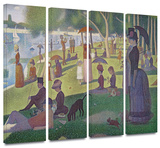 La Grande Jatte 4 piece gallery-wrapped canvas
