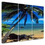 Beautiful Smini Beach 3 piece gallery-wrapped canvas