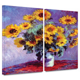 Sunflowers 2 piece gallery-wrapped canvas