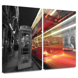 London III 2 piece gallery-wrapped canvas