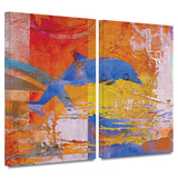 Dolphin 2 piece gallery-wrapped canvas