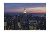 Top View Empire State Building  Sunset  Horizontal