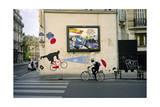 French Umbrella Biker  Paris