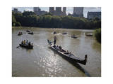 Gondola and Row Boats Central Park Afternoon