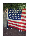 Vintage American Flag Fourth of July