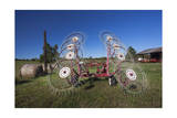 Hay Rake Farm Machinery with Bales