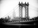 Manhattan Bridge with the Empire State Building from Brooklyn Bridge