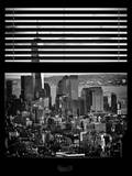 Window View with Venetian Blinds: Manhattan View with One World Trade Center (1 WTC)