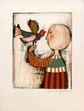 Enfant avec un oiseau IV