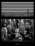 Window View with Venetian Blinds: Manhattan Skyline