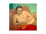 Reclining Nude Holding A Book