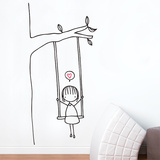 Swinging Wall Decal