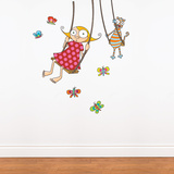 Swing Girl Wall Decal