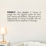 Family (english) Wall Decal