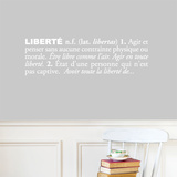 Libertfrench) Wall Decal