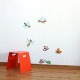 Dragonflies and Ladybugs Wall Decal