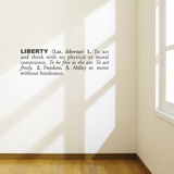 Liberty (english) Wall Decal