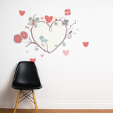 A Perch with Heart Wall Decal