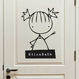 My Name Is (girl) Wall Decal