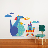 Dragon Tea Party Wall Decal